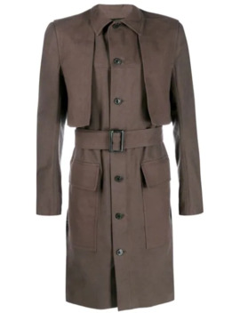 Single Breasted Trench Coat by Rick Owens