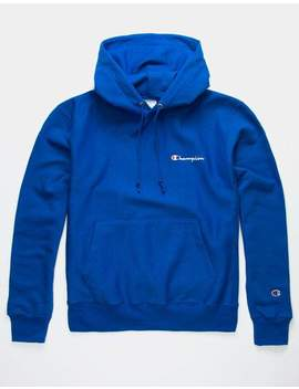 Champion Embroidered Royal Blue Mens Hoodie by Champion