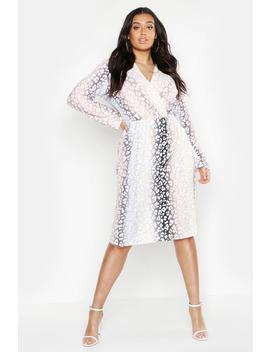 Plus Ombre Leopard Wrap Midi Dress by Boohoo