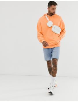 Asos Design Oversized Hoodie In Orange With Skull Back Print by Asos Design