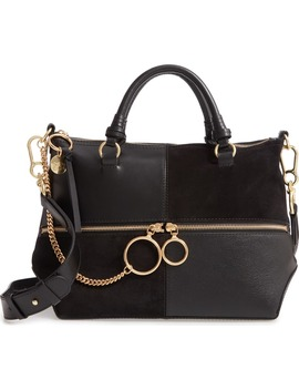 Emy Suede & Leather Satchel by See By ChloÉ