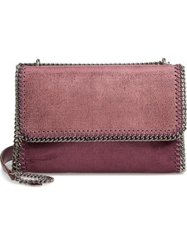 Falabella Shaggy Deer Metallic Faux Leather Shoulder Bag by Stella Mccartney
