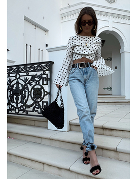 Party's Over Top – White Based Polka by Lioness Fashion
