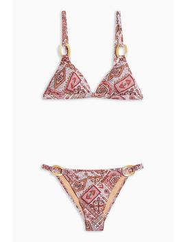Scarf Print Ring Bikini Set by Topshop