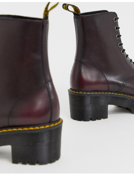 Dr Martens Shriver Hi Wyoming Heeled Ankle Boots In Burgundy by Dr Martens'