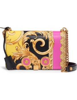 Barocco Tribute Painted Leather Shoulder Bag by Versace First Line