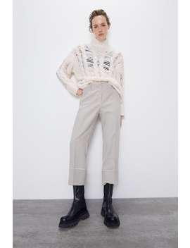 Cropped Plaid Pants View All Pants Woman by Zara