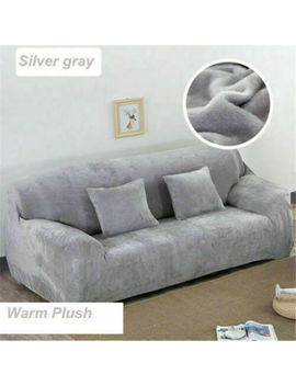 New Warm Plush Sectional/Corner Sofa Cover Couch Covers Home Decor 1/2/3/4 Seats by Unbranded