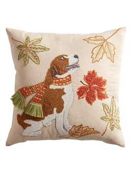 Falling Leaves  Beagle Pillow by Pier1 Imports