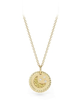 Cable Collectibles Moon & Stars Necklace With Diamonds & Yellow Sapphires In 18 K Gold by David Yurman
