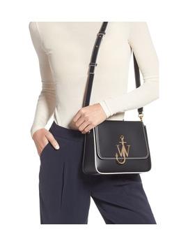 Anchor Logo Leather Box Crossbody Bag by Jw Anderson