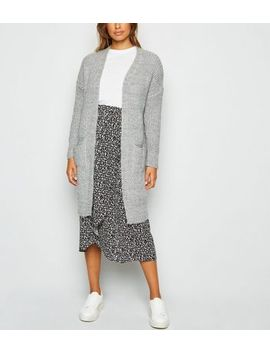 Carpe Diem Grey Pocket Midi Cardigan by New Look