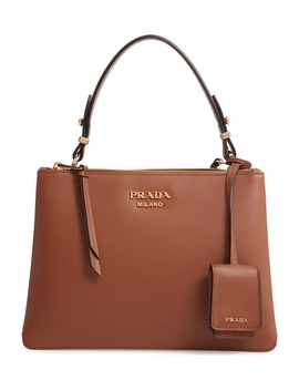Calfskin Leather Shoulder Bag by Prada