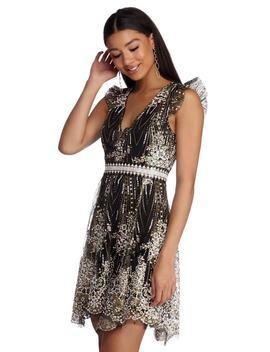 Jaelyn Formal Open Back Glitter Dress by Windsor
