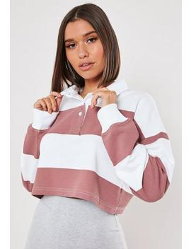 White Rugby Stripe Crop Top by Missguided