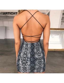 Articat Criss Cross Backless Bandage Sexy Dress Women Sleeveless Strapless Bodycon Dress Streetwear Casual Clubwear Party Dress by Ali Express