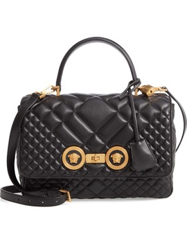 Tribute Quilted Leather Top Handle Shoulder Bag by Versace First Line