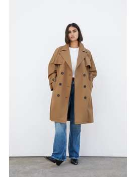 Buttoned Trench Coat Trench Coats Coats Woman by Zara