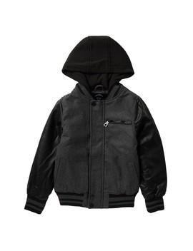 Wool Blend Varsity Jacket (Big Boys) by Urban Republic