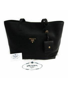 Nwt Prada Vitello Daino Lady Shoulder Woman Tote Bag Nero 1 Bg048 by Prada