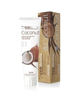 Ecodenta Cosmos Organic Anti Plaque Toothpaste With Coconut Oil And Zinc Salt 100ml by Ecodenta