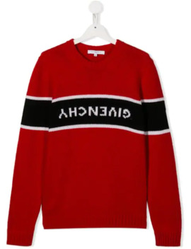 Upside Down Logo Pullover by Givenchy Kids
