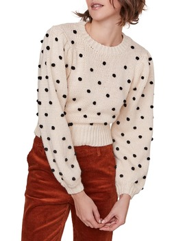 Aidy Pompom Dot Sweater by Astr The Label