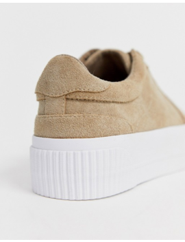 Asos Design Depart Suede Chunky Trainers In Beige by Asos Design
