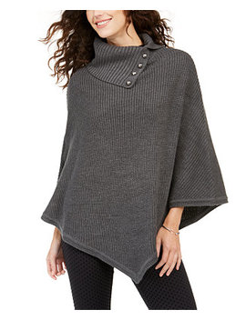 Shaker Poncho With Mk Dome Buttons by General