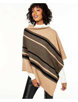 Cashmere Chevron Striped Poncho, Created For Macy's by General