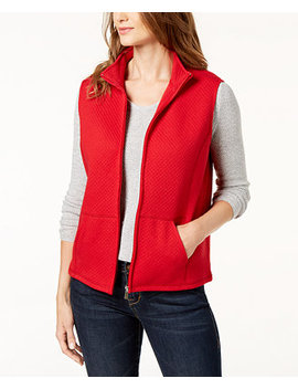 Quilted Fleece Vest, Created For Macy's by General
