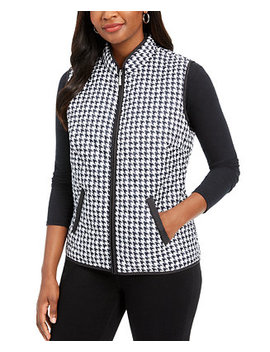 Houndstooth Puffer Vest, Created For Macy's by General