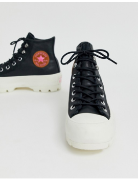 Converse Black Leather Goretex Hiker Hi Trainers by Converse
