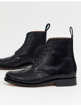 Grenson Ella Leather Brogue Ankle Boot by Asos