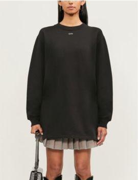 Logo Embellished Cotton Jersey Mini Dress by Off White C/O Virgil Abloh