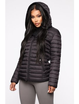 Emilia Puffer Jacket   Black by Fashion Nova
