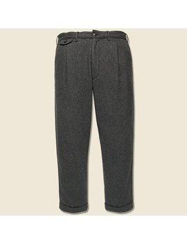 Herringbone Pleated Pant   Charcoal by Alex Mill