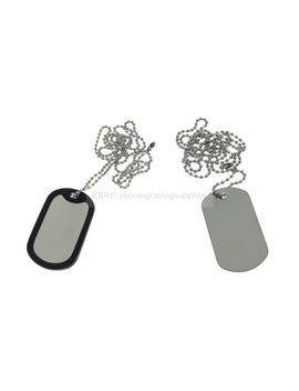 Standard Military Dog Tag With Chain, Army Id Tag, Necklace Soldier Fancy Dress by Ebay Seller