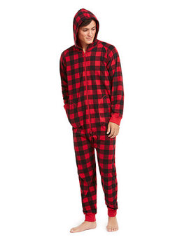 Matching Men's Buffalo Check Hooded Pajamas, Created For Macy's by General