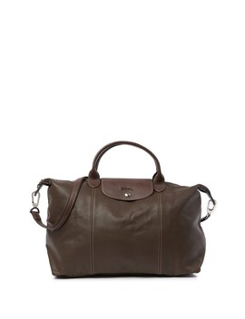 Leather Top Handle Convertible Satchel by Longchamp