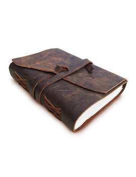 Antique Handmade Leather Bound Journal (8 X 6) by Etsy