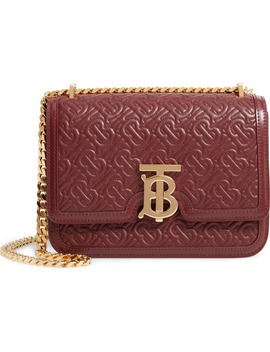Small Tb Quilted Monogram Leather Bag by Burberry