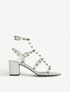 Rockstud Leather Heeled Sandals by Valentino
