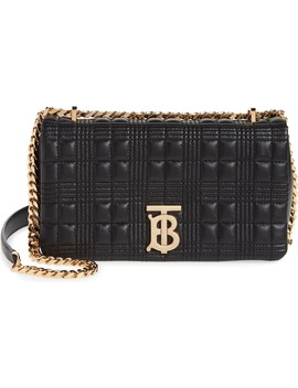Quilted Check Leather Shoulder Bag by Burberry