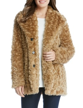 Faux Fur Jacket by Karen Kane