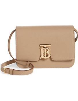 Small Tb Monogram Grainy Leather Shoulder Bag by Burberry