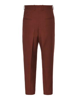 Twill Straight Leg Pants by Jil Sander