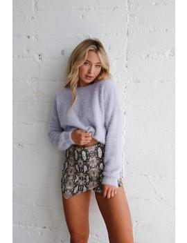 Chloe Fuzzy Crop Sweater by American Threads