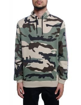 The Nowhere Striped Pullover Hoodie In New Woodland Camo by 10 Deep
