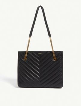 Tribeca Quilted Leather Shopper by Saint Laurent
